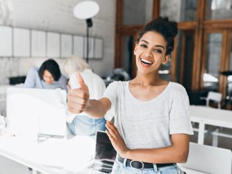 Third Culture Africans woman in start up office success